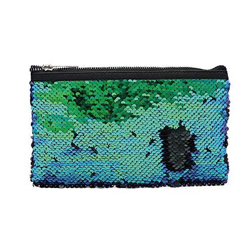 Sacs 5 Paillettes Green de Les Filles pour Sac Mode de Crayons Porte 5 cosmétique 22 adapté Papeterie Sac Pochette Sicond Stylo Monnaie de cm École x 13 Femmes xwXfwpqB