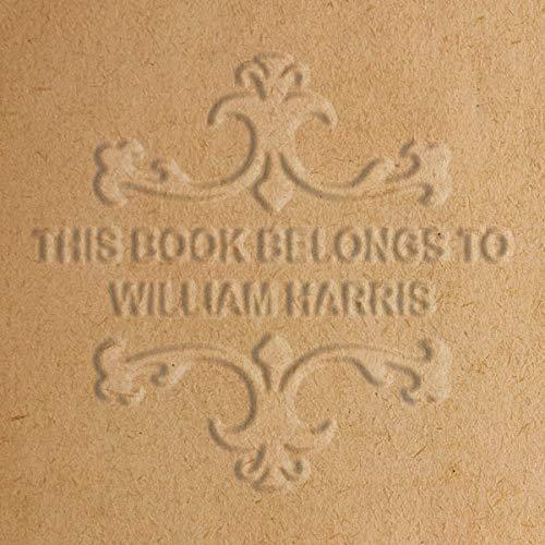 /palmare pinze/ scrivania modello con base in legno /personale o cognome libro Il timbro biblioteca di edizione speciale design / ex libris