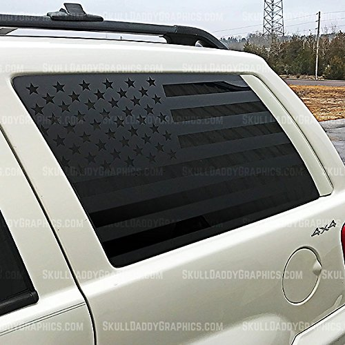 Skull Daddy Graphics WJ Window Flags to fit Jeep Grand Cherokee 1999-2004 (BOTH Sides) (Graphics Trim Decals)
