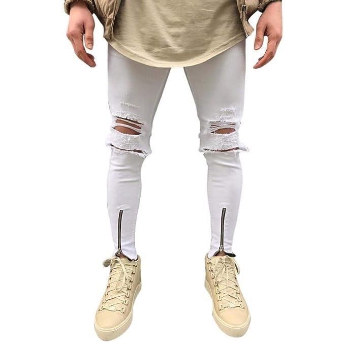 Jeans De Hombre Slim Fit Pantalones Chándal De Negros Jeans ...