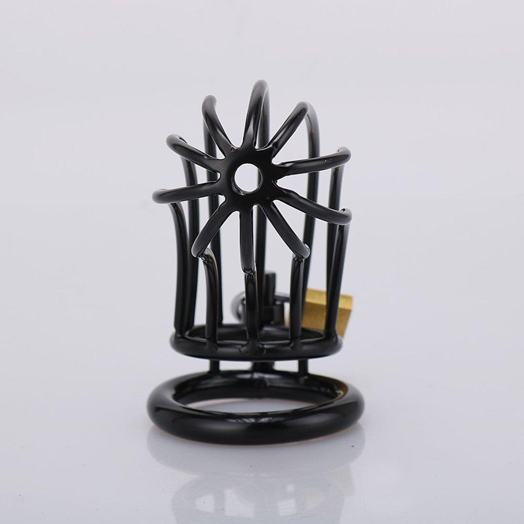 ZM Dispositivo Masculina de Castidad Masculina Dispositivo Manganeso Acero Metal Love Birdcage Lock Encerramiento Bondage Pene Adultos Juguetes Sexuales (11.5 * 3.5 cm) (Tamaño : 45mm) 712eba