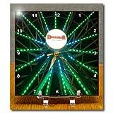 3dRose dc_13955_1 Blue Green Ferris Wheel-Desk Clock, 6 by 6-Inch