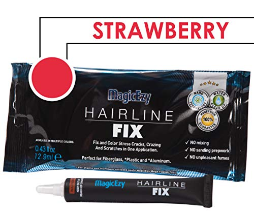 Jet Coat - MagicEzy Hairline Fix (Strawberry) - Boat Gelcoat Crack Repair - Fills and Colors Fast