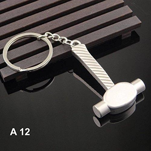 1 Pc Mini Pocket Hammer Keychain Keyring Keyfob Tools Pendant Key Chain Ring Fob Tag Holder Finder Necklace Dashing Popular Cute Wristlet Utility Keychains Tool Teenagers Teen Women Gift, Type-12