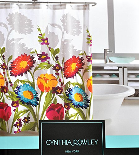 Cynthia Rowley Fiorina Floral Fabric Shower Curtain (Bold Curtain Fabric)