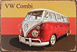 Red Volkswagen Combi, Metal Tin Sign, Wall Decorative Sign