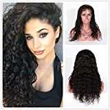 Wigsroyal Spanish Curl 100 Human Full Lace Wigs Wave In Spanish 100 Human Full Lace Wigs #1b With Bleached Knots 18' Small Cap Size