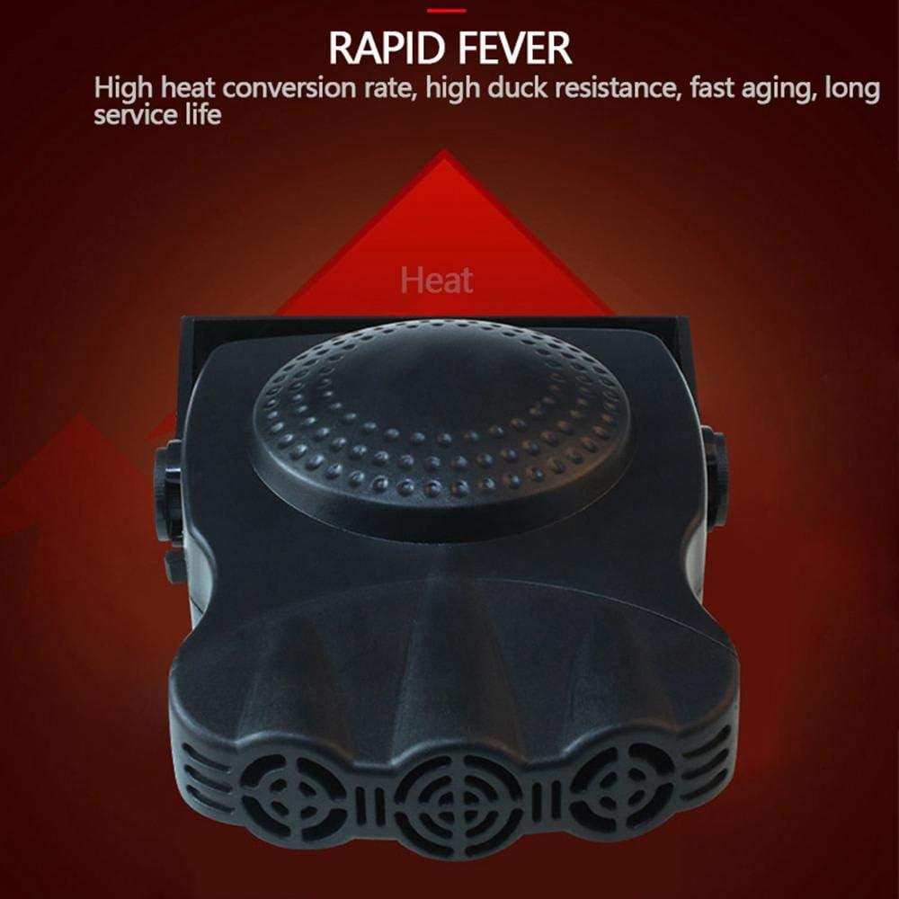 in ceramica 12 V LayOPO 150 W riscaldamento rapido in 30 secondi Termoventilatore multifunzione per auto sbrinamento rapido Nero 1