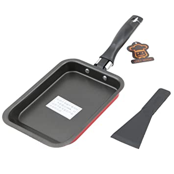 Sartén antiadherente estilo japonés Pan-Rectangular para tartas, rollo de huevo, mini sushi Omelette, sartén cuadrada 30.7x12.4x2.2cm rosso: Amazon.es: ...