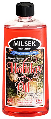 Milsek Furniture Polish and Cleaner with Cinnamon-Raspberry Scent (Holiday Oil), 12-Ounce, Pack of 16, HO-MC by Milsek (Image #5)
