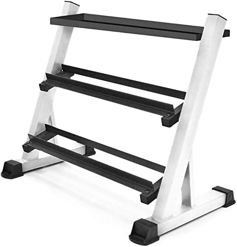 Marcy 3 Tier Solid Steel Dumbbell Rack for Home and Gym Workouts – Free Weight Storage Stand