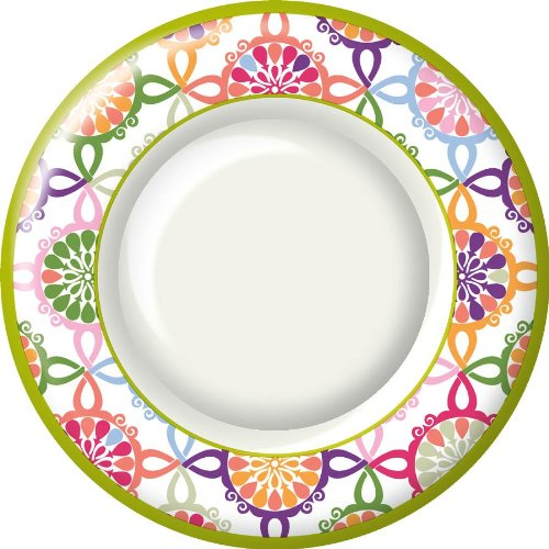 Ideal-Home-Range-8-Count-Boston-International-Round-Paper-Dinner-Plates-Pink-Colorful-Tile