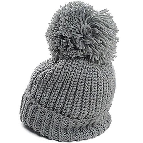 UPC 701413526902, Warm Cuffed Baggy Winter Beanie Knit Crochet Ski Women Lady Hat Cap (Grey)