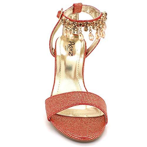 Sandales Chaussures Des Talon Bracelet Taille Mariage De Bordeaux Cheville Mariée Femmes Bal Dames Éblouissant Haut Prom Soir Fête wBqOSP6ZxS