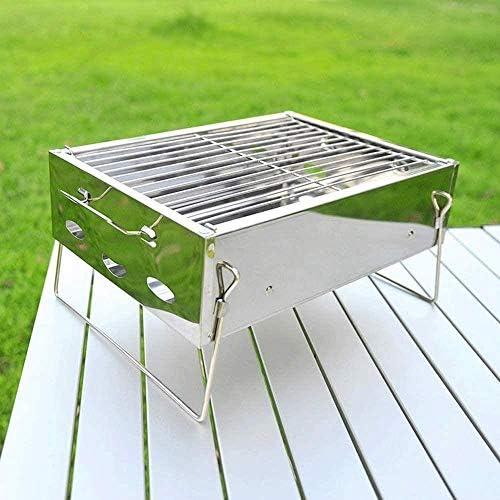 Barbecue HZY Grill Portable Petit léger en Acier Inoxydable Mini for Cuisine de Plein air Camping Randonnée Pique-niques 36 * 26 * 17cm