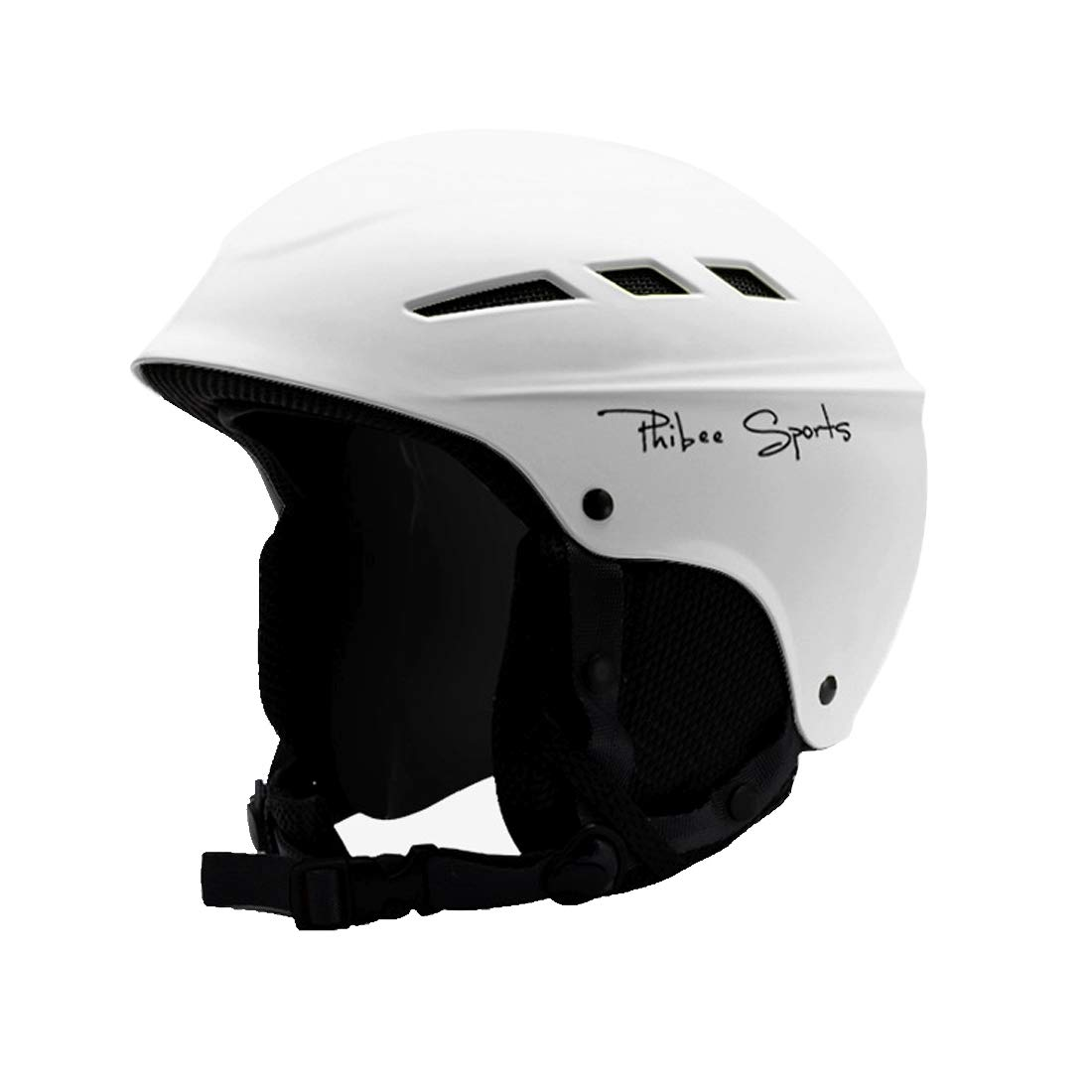 VAXT Fit for 50-56cm, Sizing: S, Individual and Dual Plate Skiing Professional Protective Helmet 8 Air Vents PC Shell Adjustable Buckle Parent-Child Protective Helmet (Color : Cms5504b)