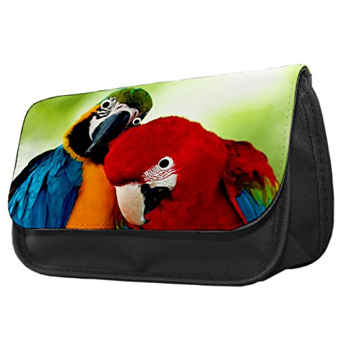 Papageien Googley Augen Tier Bleistift Fall/Make-up Tasche 224