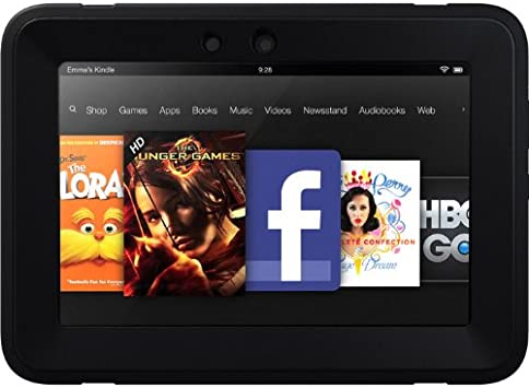 Amazon Com Otterbox Defender Series Protective Case For Kindle Fire Hd 7 Previous Generation Black With Built In Screen Protection Kindle Store