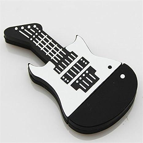 Elfe Boutique Real de Creative U-PVC silicona guitarra Rock guitarra eléctrica música regalo personalizado USB Flash Drive 32 GB U disco: Amazon.es: ...