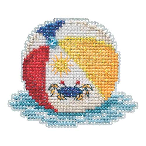 Beach Ball Beaded Counted Cross Stitch Ornament Kit Mill Hill 2019 Spring Bouquet MH181916