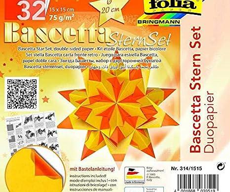 Origami Bascetta Stars - 75 g/M2 dos colores, tarjeta de ...