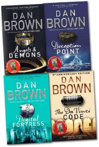 Robert Langdon Series Collection Dan Brown 4 Books Set (Deception Point, Etc)