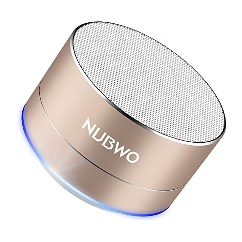 NUBWO Bluetooth Speaker, Portable Bluetooth Outdoor Travel Speaker, Wireless Speaker with HD Sound and Bass, Built-in Speakerphone, Handsfree Calling, TF Card Slot for iPhone, Samsung and More (Gold)