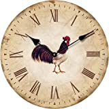 WALL CLOCK DESIGN COCK WITH ROMAN NUMERALS 30cm - Tinas Collection