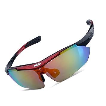 Duco Gafas de Sol Ciclismo Gafas de Sol al Aire Libre para Atletas polarizados 5 Lentes Intercambiables UV400 SP0868
