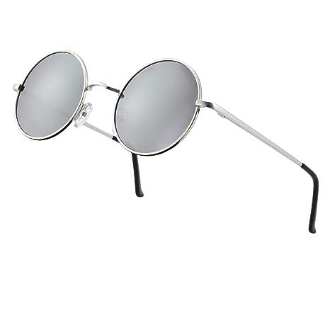 87c3b254136 CGID E01 Retro Vintage John Lennon Inspired Round Metal Circle Polarized  Sunglasses With Leather Case  Amazon.ca  Luggage   Bags