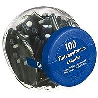 500 Füllerpatronen / Tintenpatronen / im Glas / königsblau