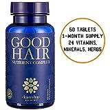 Kansha Alchemy Hair Growth Vitamins with Biotin + DHT Blocker for a Longer, Stronger, Healthier Hair - Fights Hair Loss in Men & Women (60 Tablets)