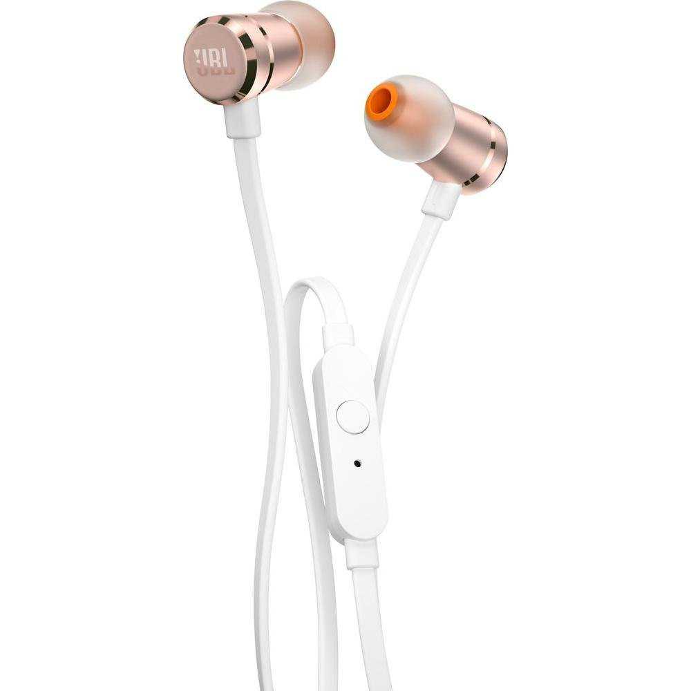 JBL In-Ear Headphones Pure Bass T290 High Performance with Universal 1 button remote/mic Gold by JBL
