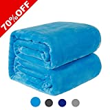 Oversized King Size Bedding 126x120 WarmHarbor330 GSM Fleece Blanket Super Soft Warm Fuzzy Lightweight Couch For Bed/Sofa Blanket (King(90x108 Inch), Lake blue)