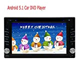 EinCar 6.2 inch Android 5.1 Lollipop Quad Core Double 2 Din Car Stereo DVD CD Player HD in Dash Touch Screen GPS Head Unit Car Radio Receiver with Navigation support 3G/4G Wifi Mirror Link