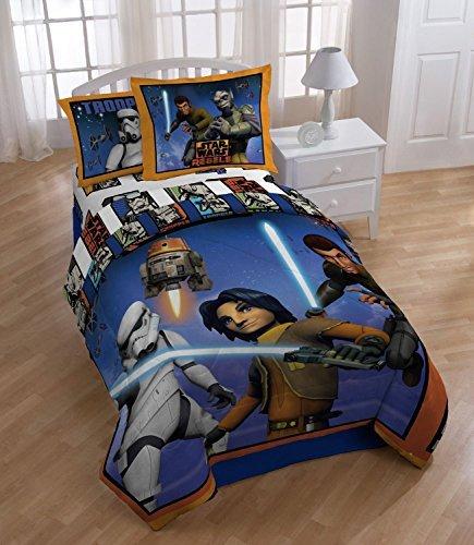 Star Wars Rebels Comforter 3 Pieces Set Reversible Twin Blue