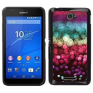 Glitter Sea Sun Reflexión Rojo Púrpura- Metal de aluminio y de plástico duro Caja del teléfono - Negro - Sony Xperia E4