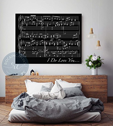 Music sheets custom canvas print. Framed canvas print. Custom canvas art print. Cotton framed canvas print. House decor. Gift for parents. Gift for musician. RockinCanvas (Susan Art Deco Print)