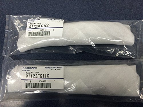 SUBARU 2011-2014 WRX STi OEM Limited Black Fender Badge Emblem Garnish Set Pair
