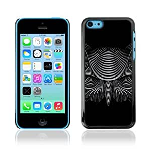 linJUN FENGDesigner Depo Hard Protection Case for Apple iphone 5/5s / Cool Illustrated Owl
