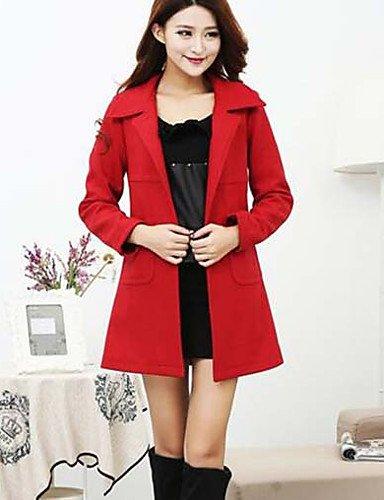 女性と 039 ; sのさりげない日常の簡単な冬のコート、ソリッドシャツカラー長袖ロングポリエステル,6xl,ネットワーク B0784LQSJ6