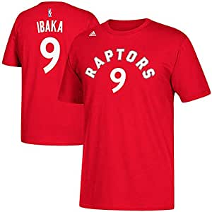 05a7ee8e540 adidas CT7063 NBA Toronto Raptors Men's #9 Serge Ibaka Game Time Tee ...