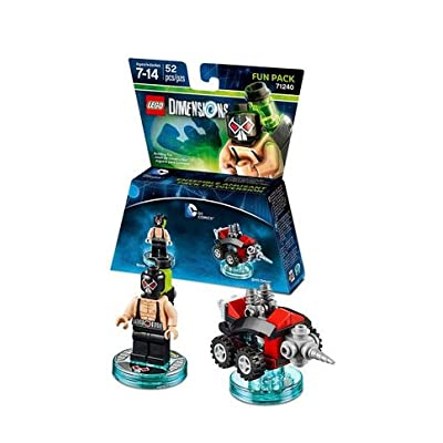 Lego Dimensions Bundle of 2 - Excalibur Batman + Bionic Steed Fun Pack (71344) and DC Bane Fun Pack (71240): Video Games