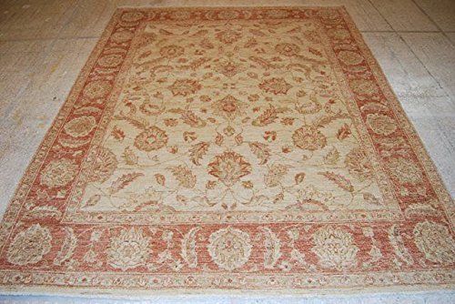 Zigler Rug (Neutral 6x8 NEW Pak Peshawar Rug Antique Zigler Style)
