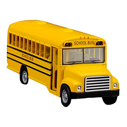 Giant School Bus (Diecast Cars Classic US School Bus 4.9 x 1.5 x 1.5 Inch)