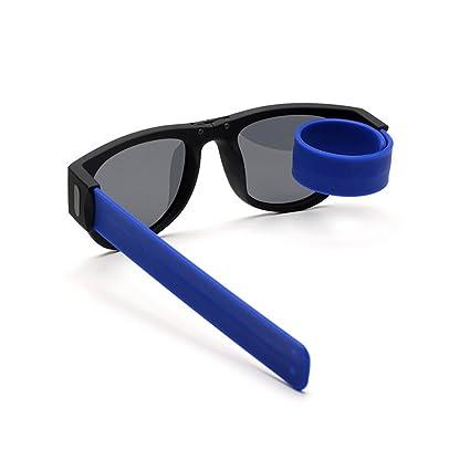 LIGHTOP Gafas de Sol Deportivas Plegables Slap-On Gafas de Sol Unisex Deporte Plegables y