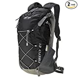 25L Waterproof Hiking Backpack Hydration Packs Fits Men and Women for Cycling Climbing Skiing, Free Rain Cover Included(Black) Review