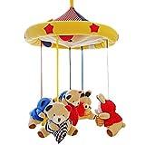 SHILOH Baby Crib Decoration Newborn Gift 60 tunes Plush Musical Mobile (Bear Family)