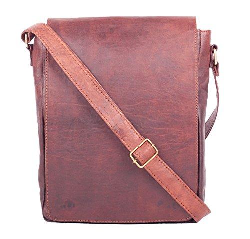Umhängetasche Ledertasche Unitasche Lehrertasche Collegetasche Leather Bag Vintage