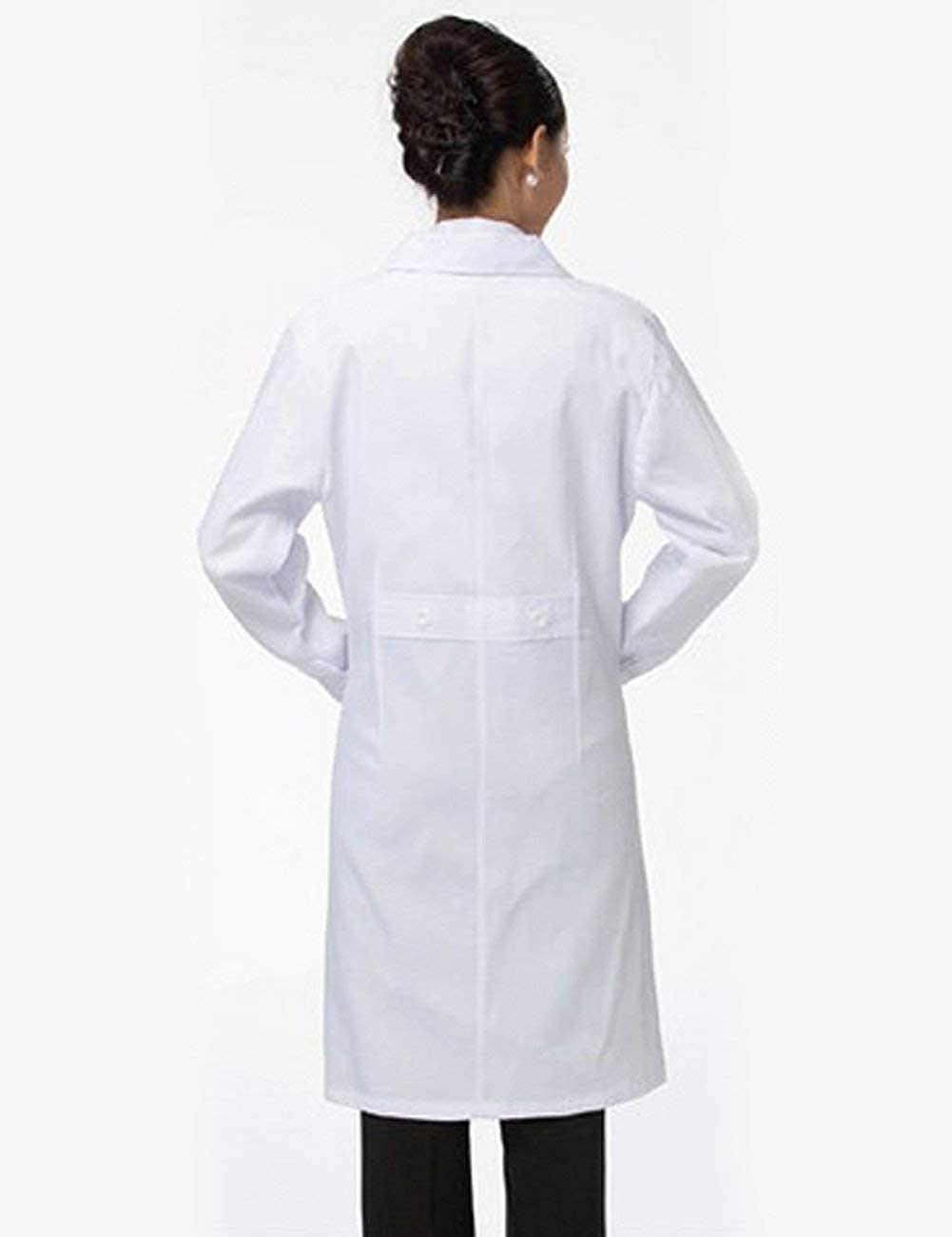 Matchwill Camice da Laboratorio//Bianco Medico Lavoro Cappotto Uomo /& Donna per Chimico,Scolastico,Studenti,Scientifico,Dental Clinic,Cosplay